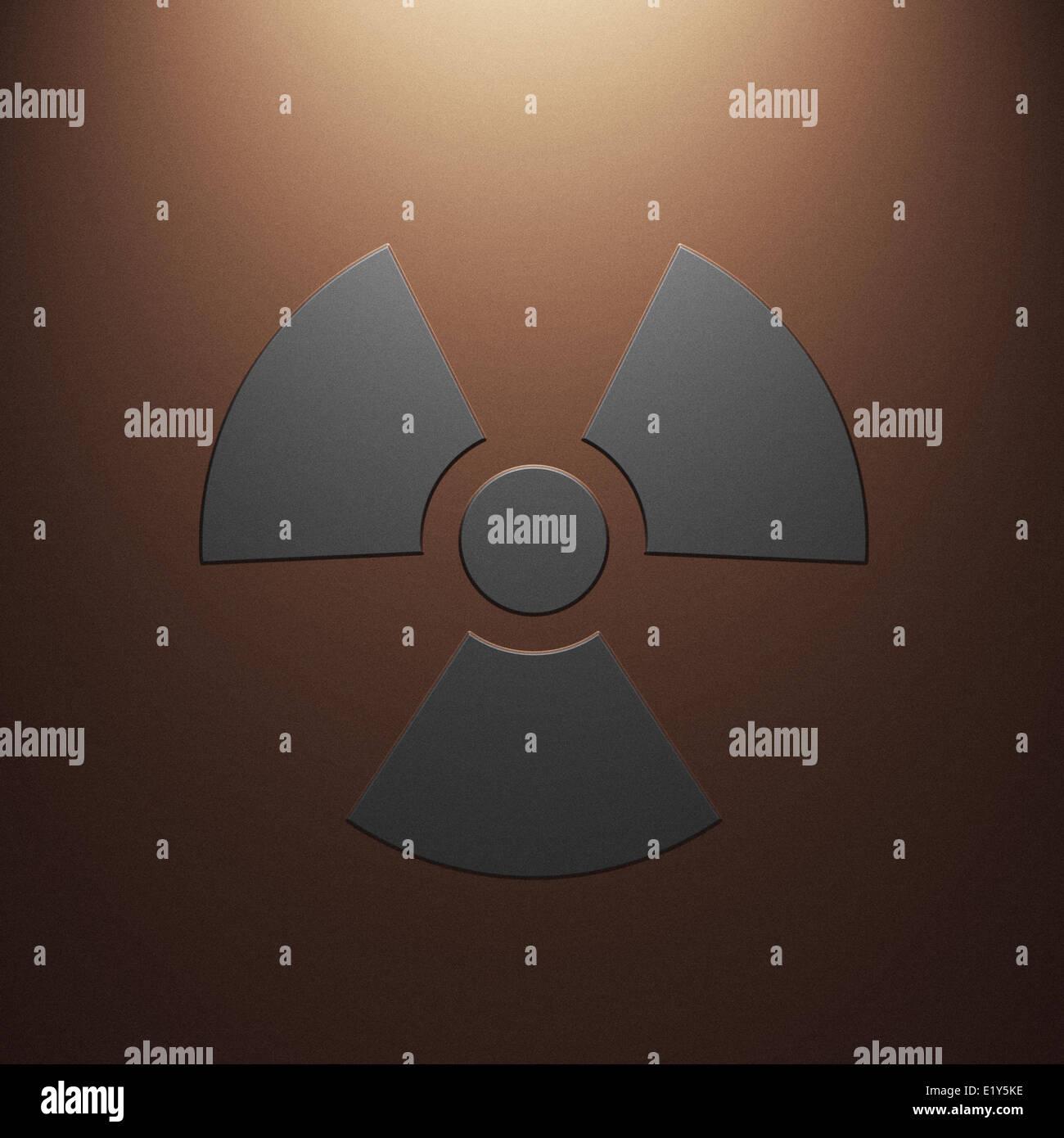 Radiation sign - Stock Image