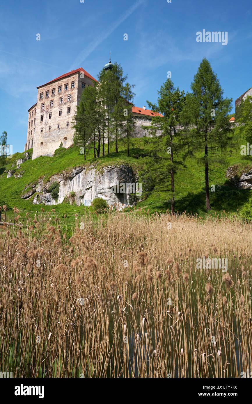 Poland Malopolska Region Ojcow National Park Pieskowa Skala Castle near Krakow - Stock Image