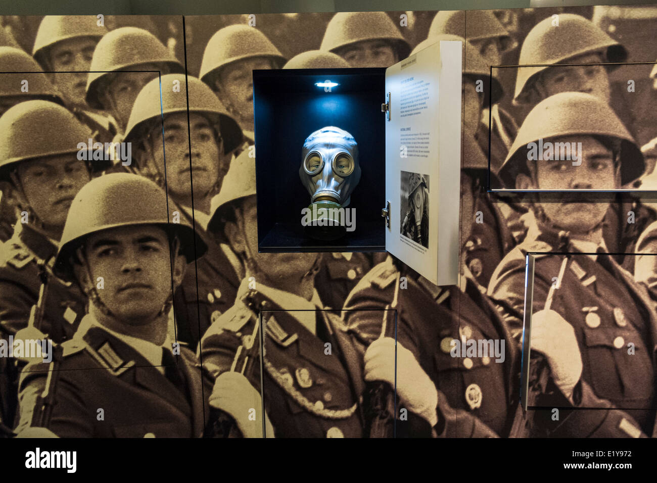 Exhibit inside DDR Museum ( East German Museum ) in Berlin Germany - Stock Image