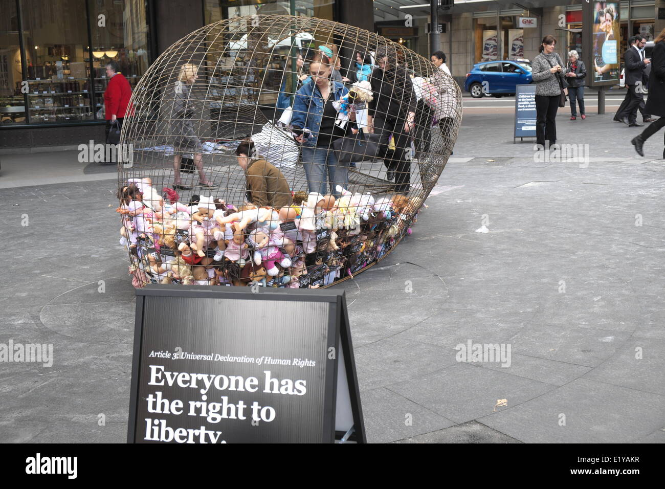 Sydney, Australia. 11th June 2014. Free the Children campaign protests against Australian government detaining children Stock Photo