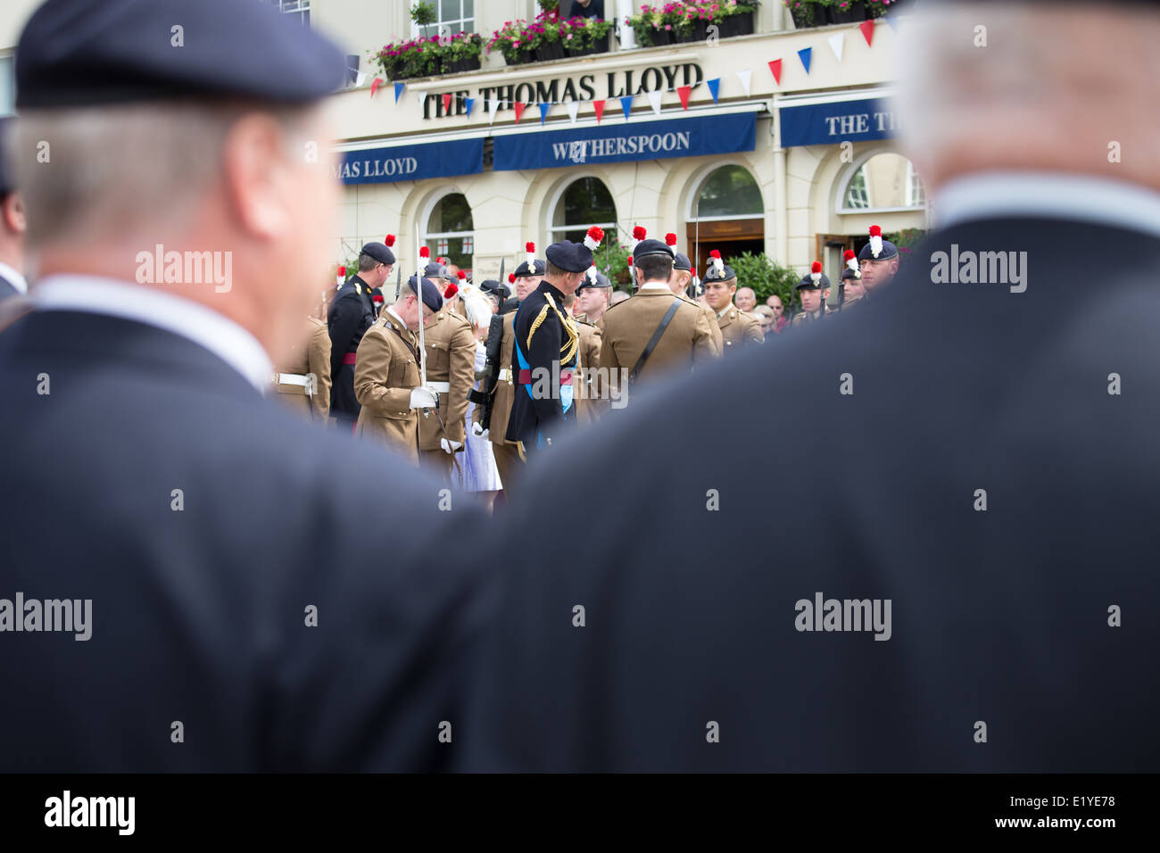 HRH Duke of Kent on a visit to Warwick to honour the Warwickshire Fusilliers Stock Photo