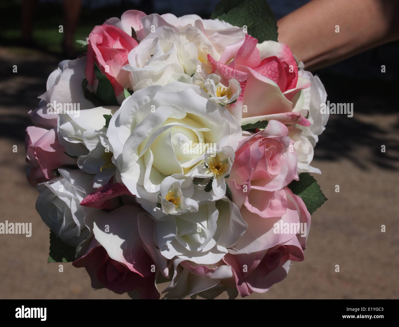 Flower bouquet white and pink Stock Photo