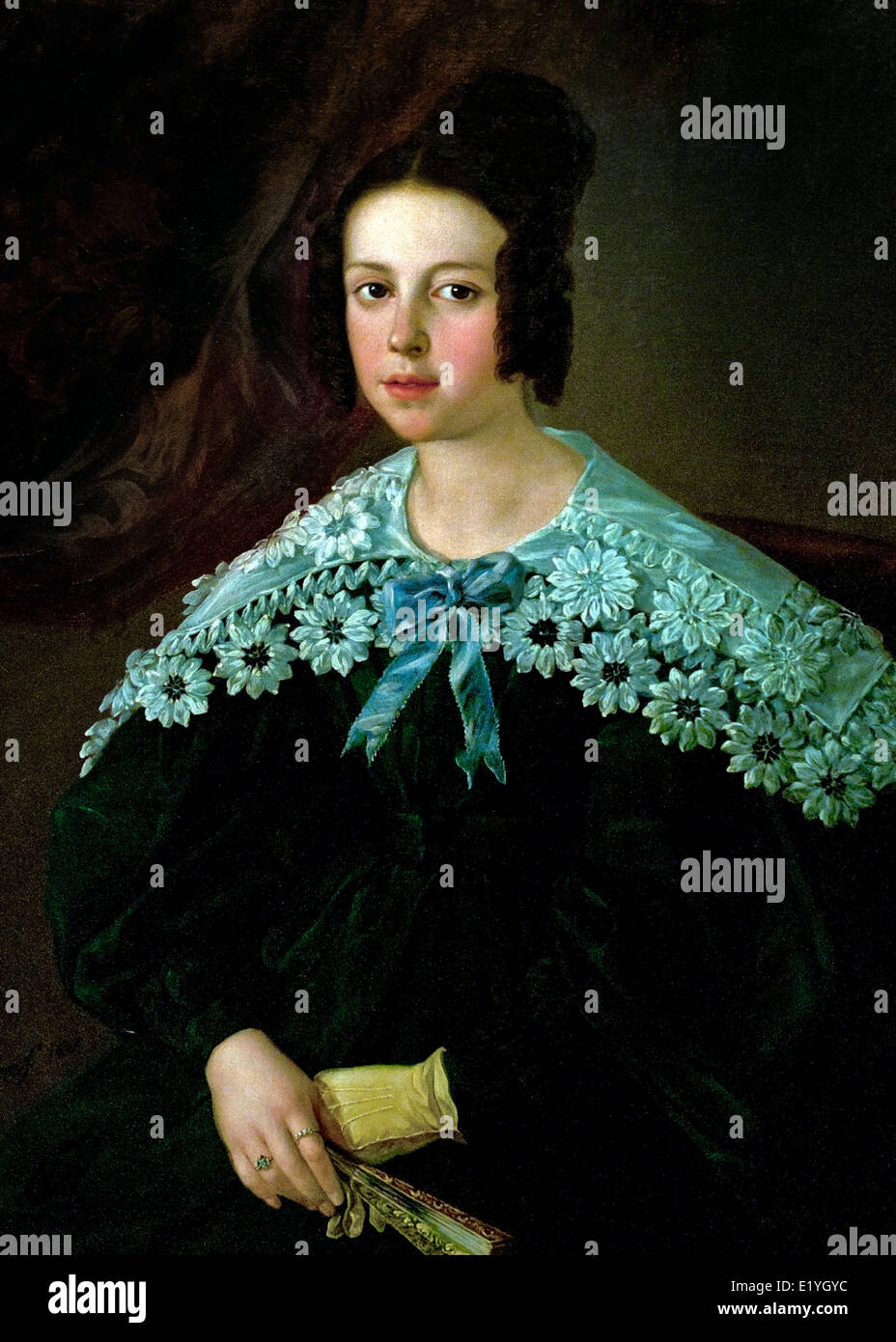 Portrait of a Girl 1837 Antonio Gomez Gros 1809-1863 Spain Spanish - Stock Image