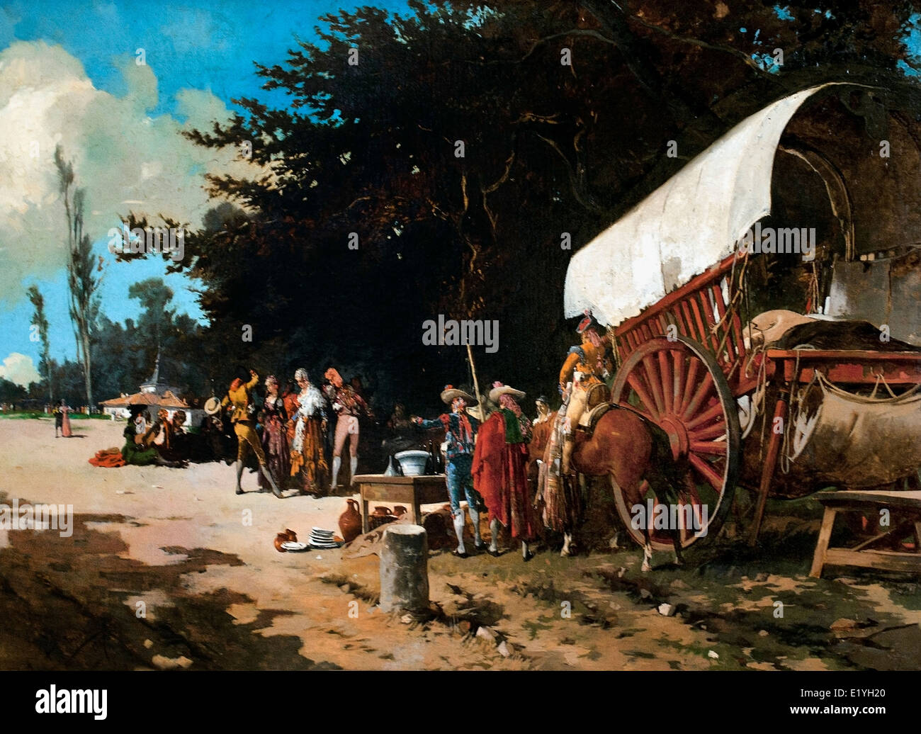Romeria Pilgrimage 1887 Angel Lizcano Monedero 1846-1929  Spain Spanish - Stock Image