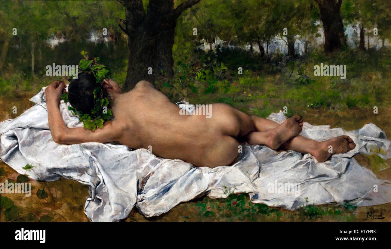 Young Bacchus 1872 Joaquin Agrasot y Juan 1836-1919 Spain Spanish - Stock Image