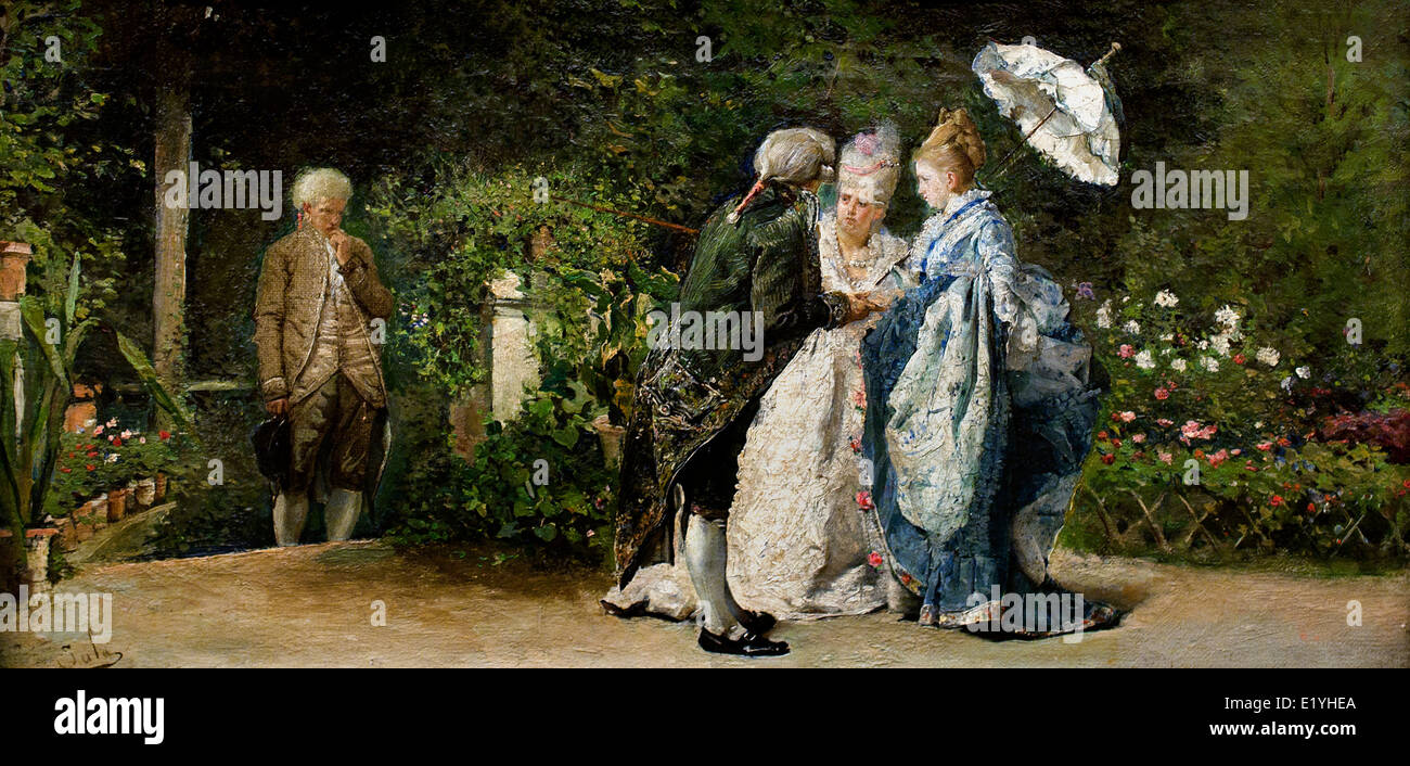Proposal Scene 1875 Emilio Sala Frances (Alcoi 1850 Madrid 1910) Spain Spanish - Stock Image