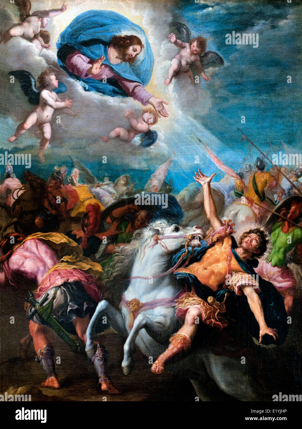 CONVERSION OF SAINT PAUL Carducho Vincent (Florence, 1576 - Madrid, 1638) Italy Spain - Stock Image