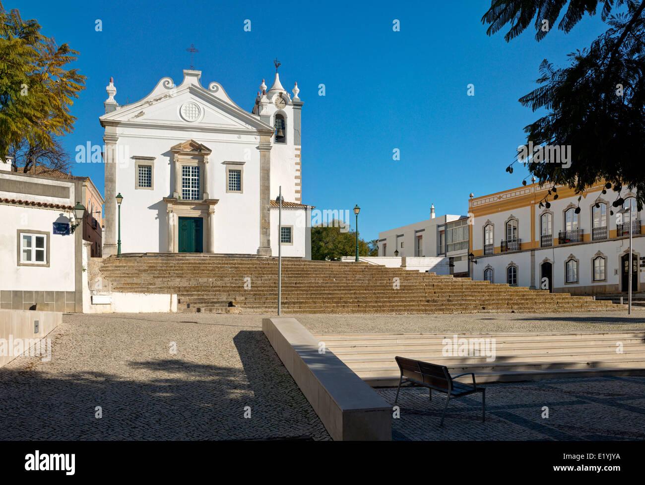 Portugal, the Algarve, Estoi village church - Stock Image