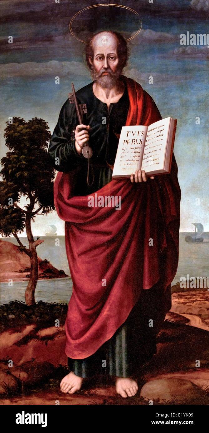 St Peter by Nicolas Borras Falco 1530-1610 Spain Spanish - Stock Image