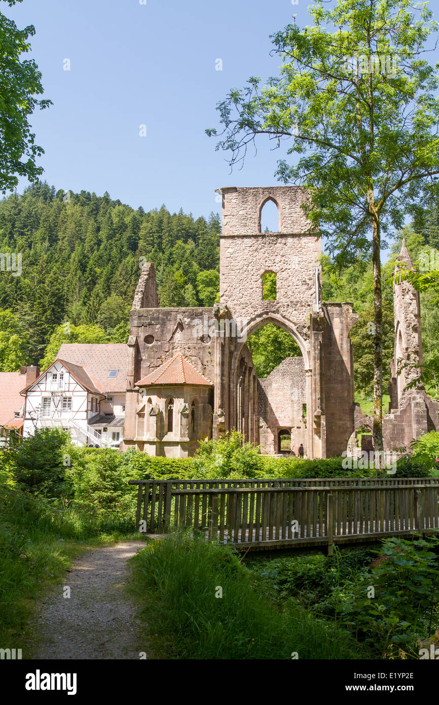 Monastery ruins of All Saints, Black Forest, Baden-Wuerttemberg, Germany, Europe - Stock Image