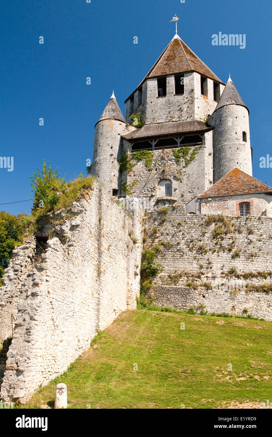 César Tower, Provins, town of medieval fairs, France - Stock Image