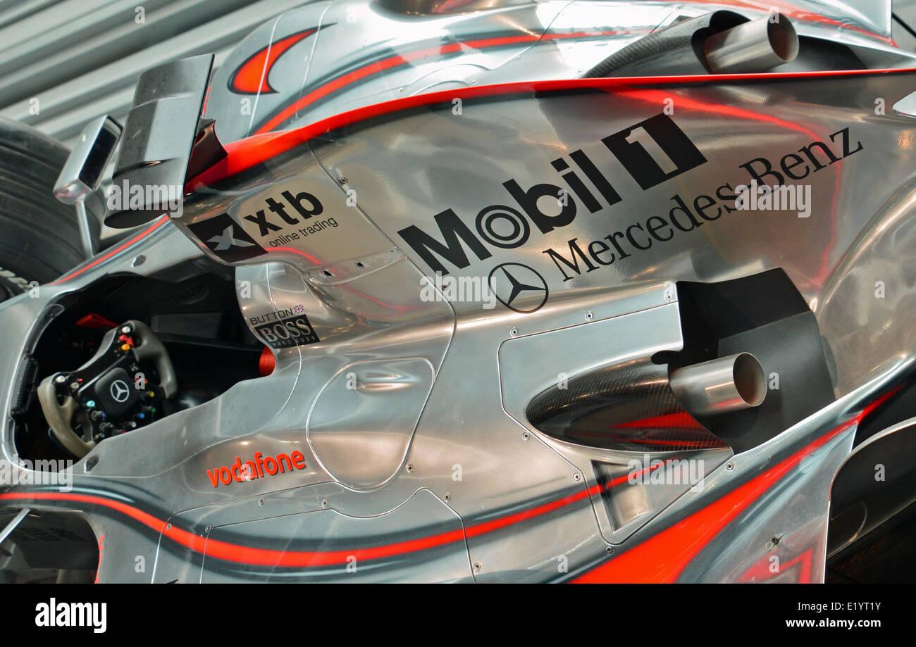 Mercedes Formula One racing car - Stock Image