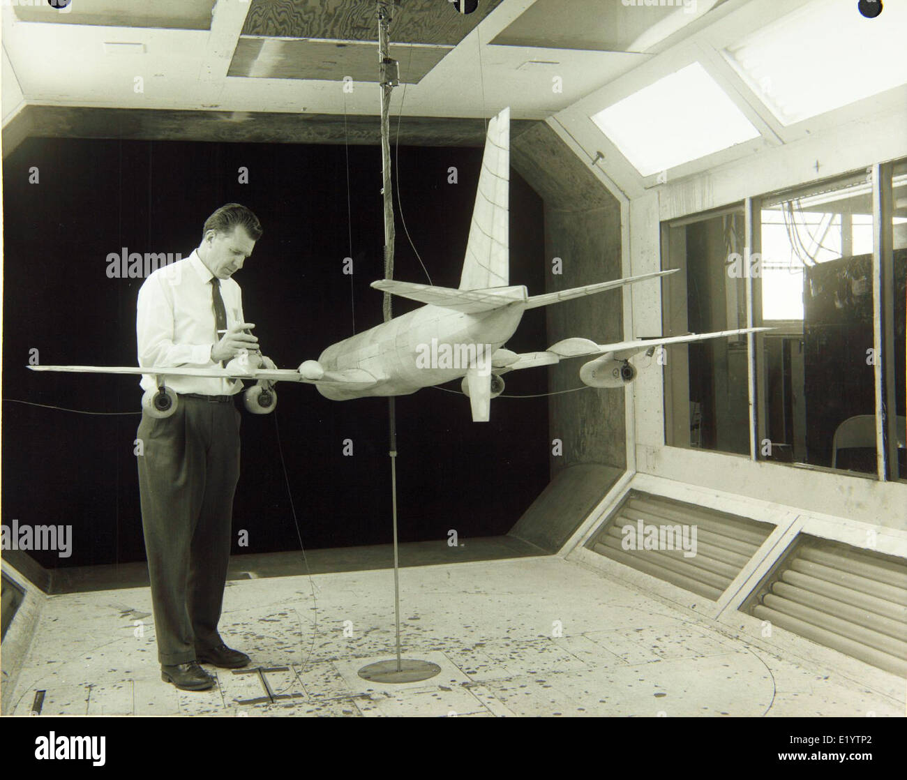 Convair/General Dynamics Wind Tunnel Stock Photo