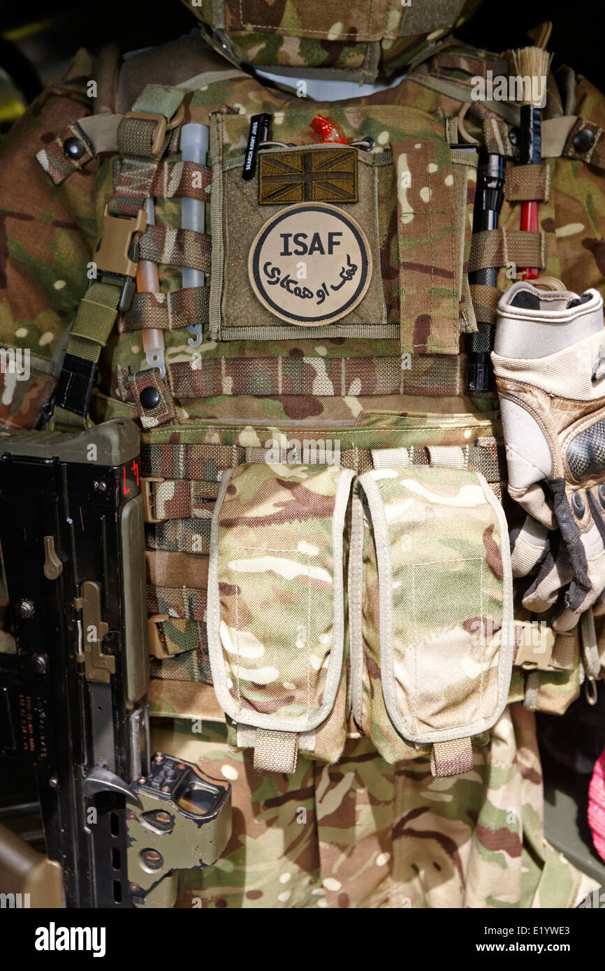 british army isaf afghanistan body armour and uniform - Stock Image