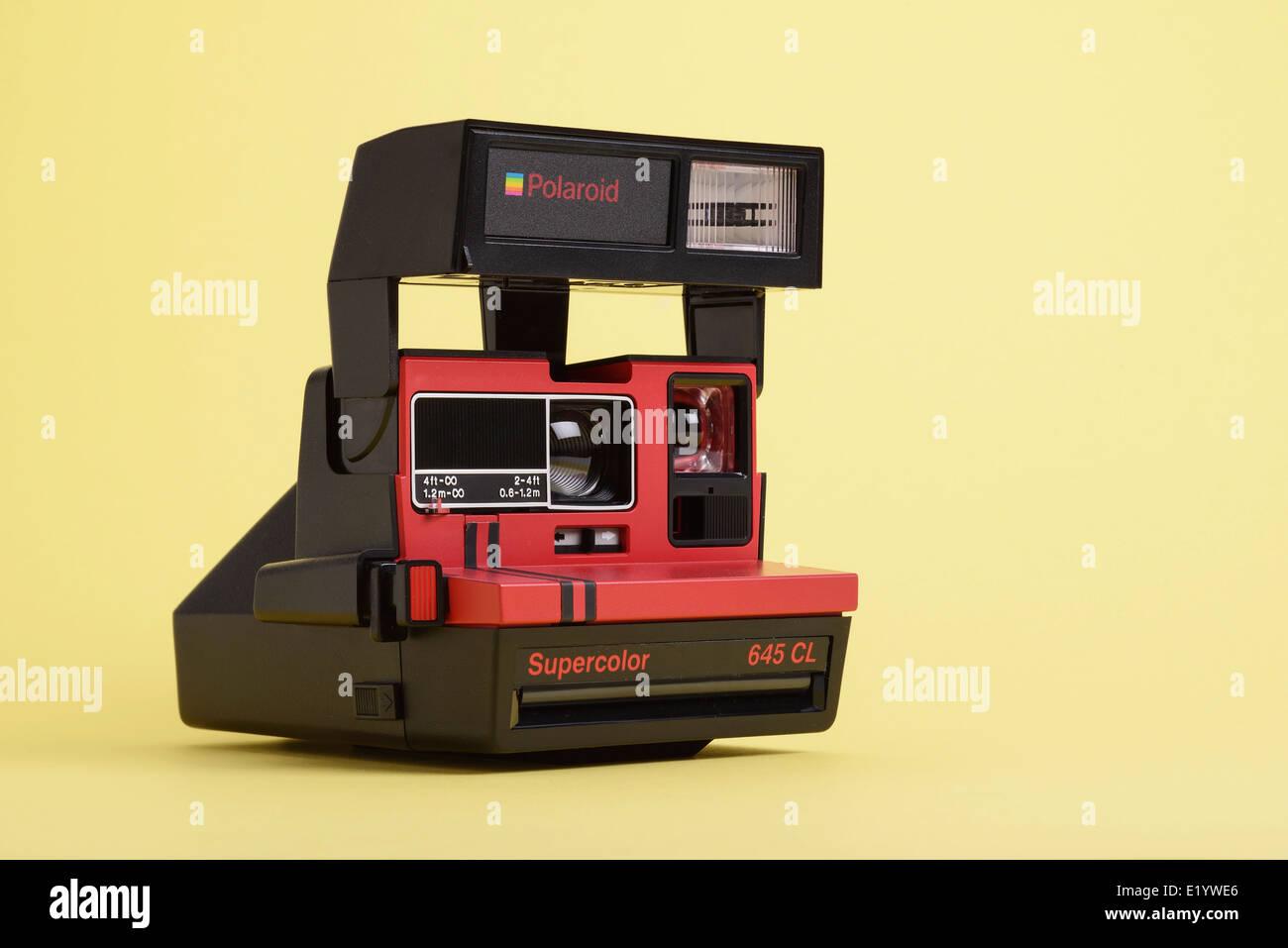 Old vintage retro Polaroid film camera - Stock Image