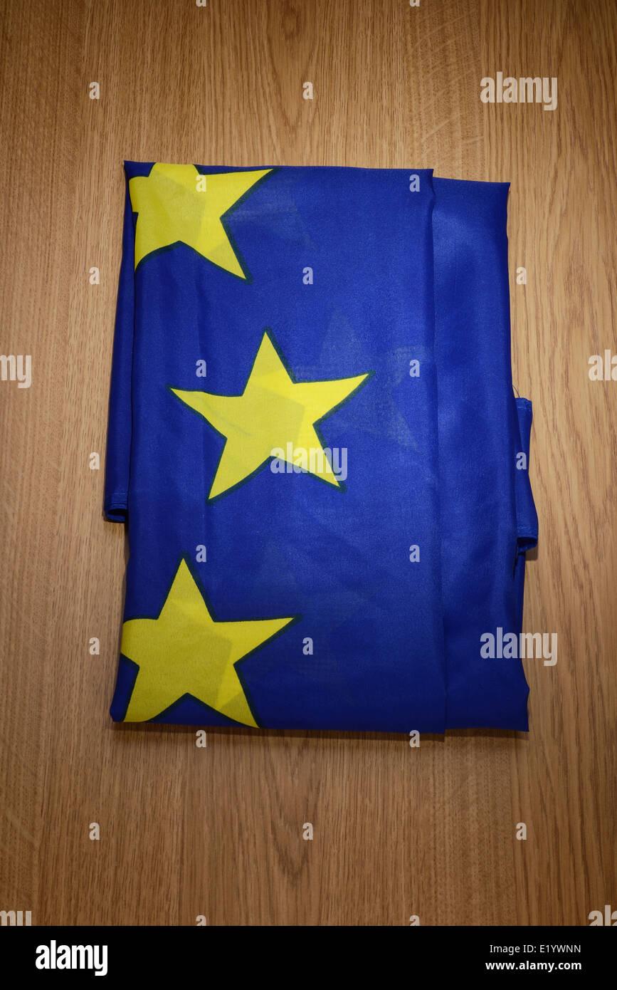 Folded EU flag - Stock Image