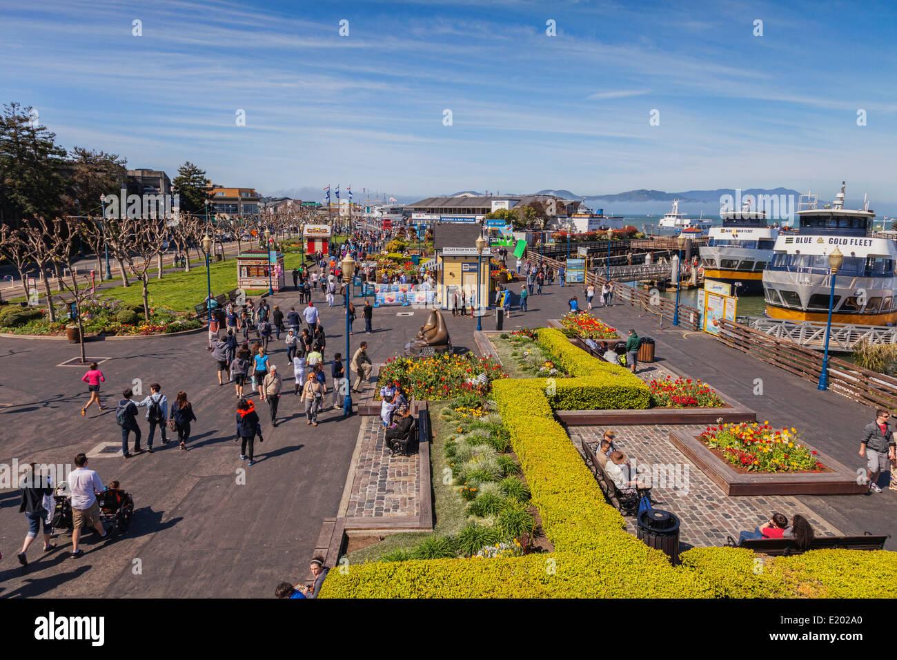 San Francisco, the Embarcadero, near Pier 39. - Stock Image
