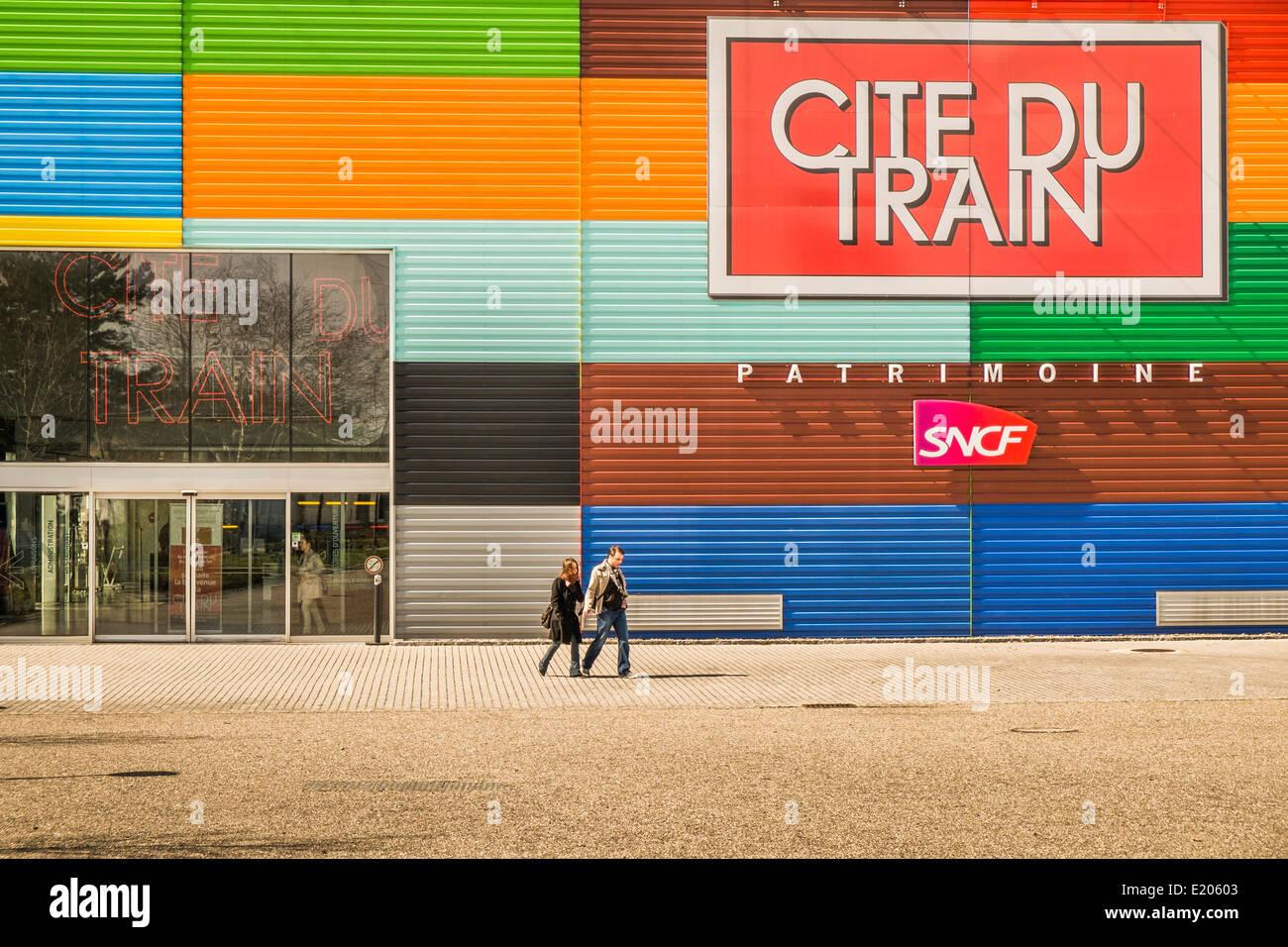 _cite du train_ railroad museum, mulhouse, alsace, france - Stock Image
