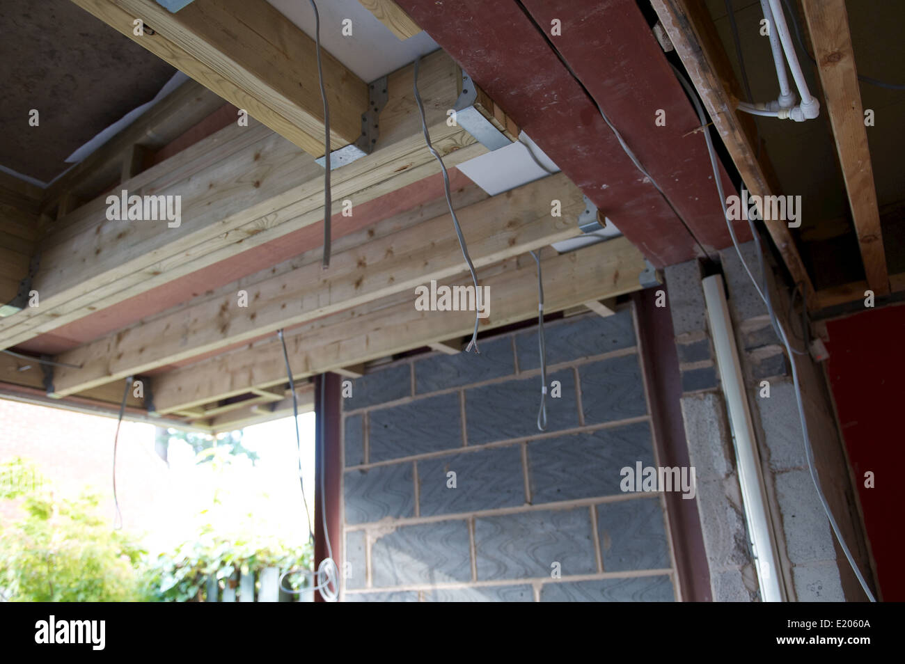Roof Structure In A New Build Extension In England Uk