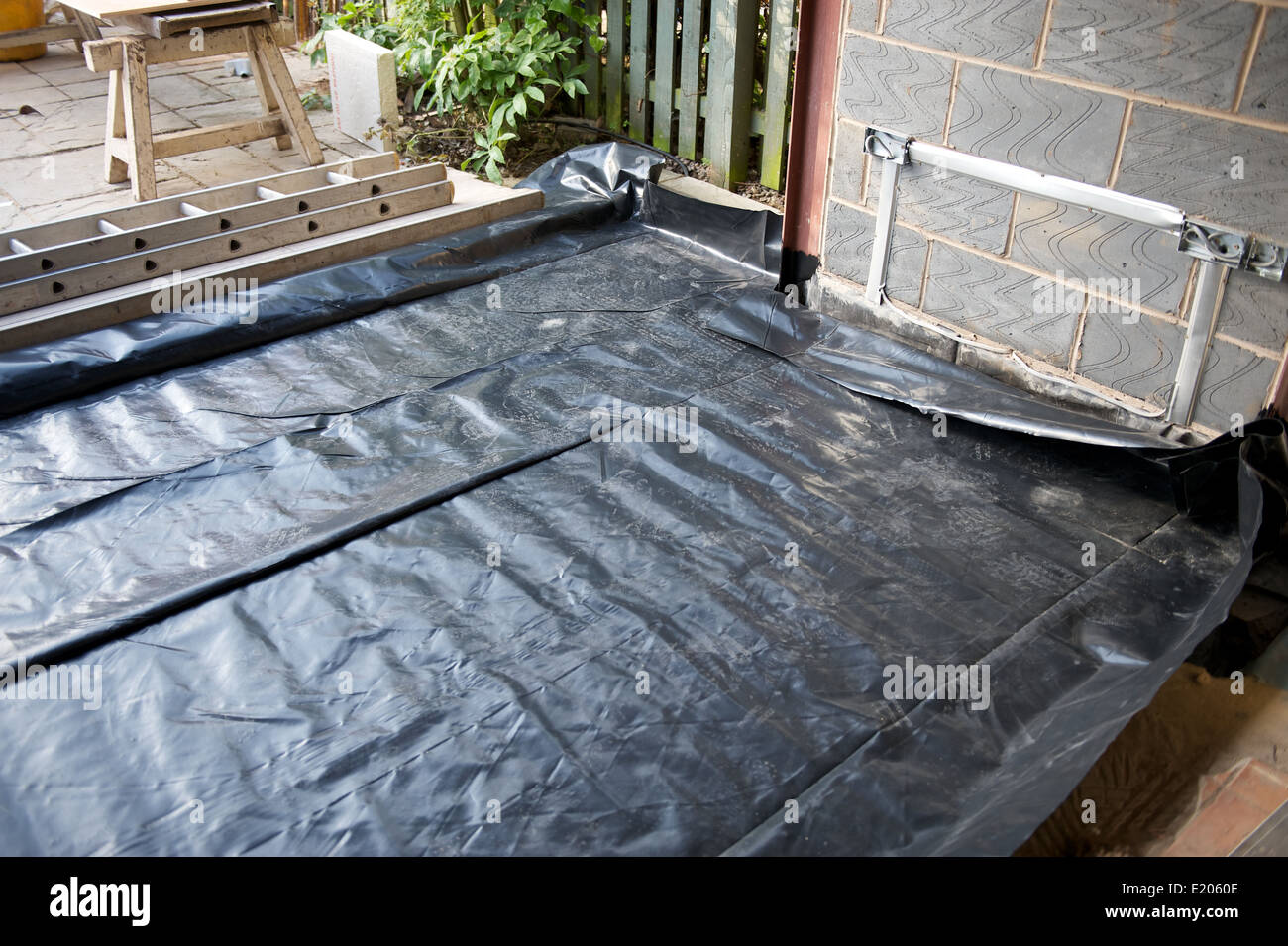 New Build Extension Damp Proof Liner For Concrete And