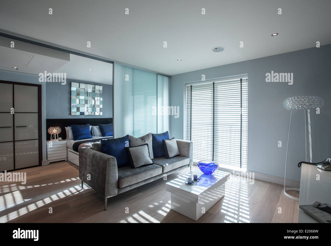 A Chelsea Creek development showhome on the River Thames near Chelsea, London, UK - Stock Image