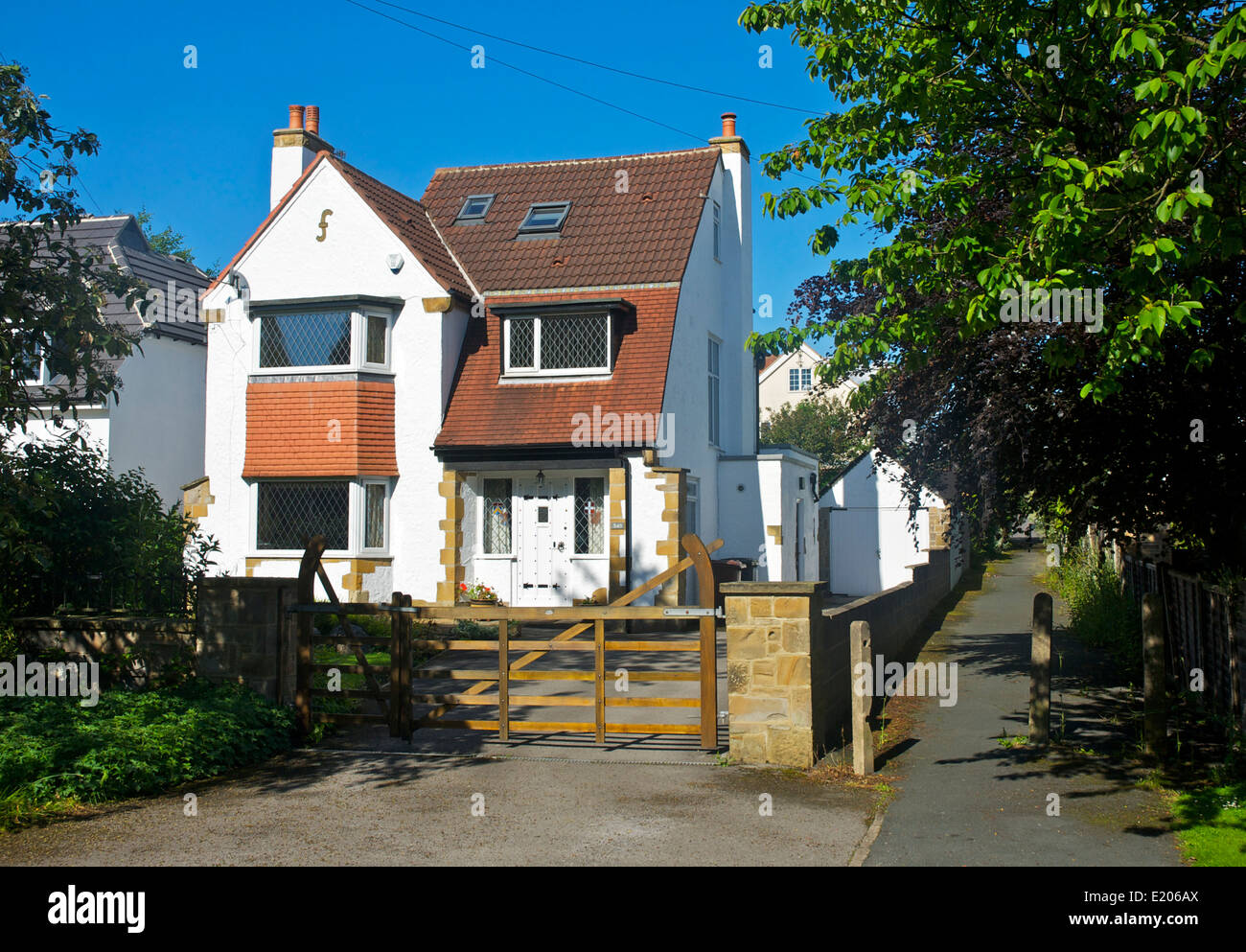 Detached house in Adel, near Leeds, West Yorkshire, England UK - Stock Image