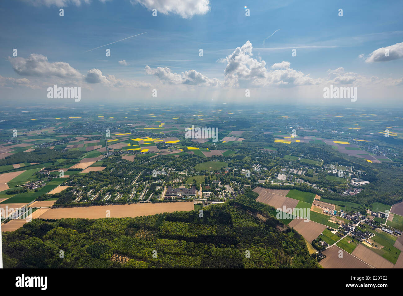Aerial view, former military base of the British Army of the Rhine, JHQ Rheindahlen, Mönchengladbach, North - Stock Image