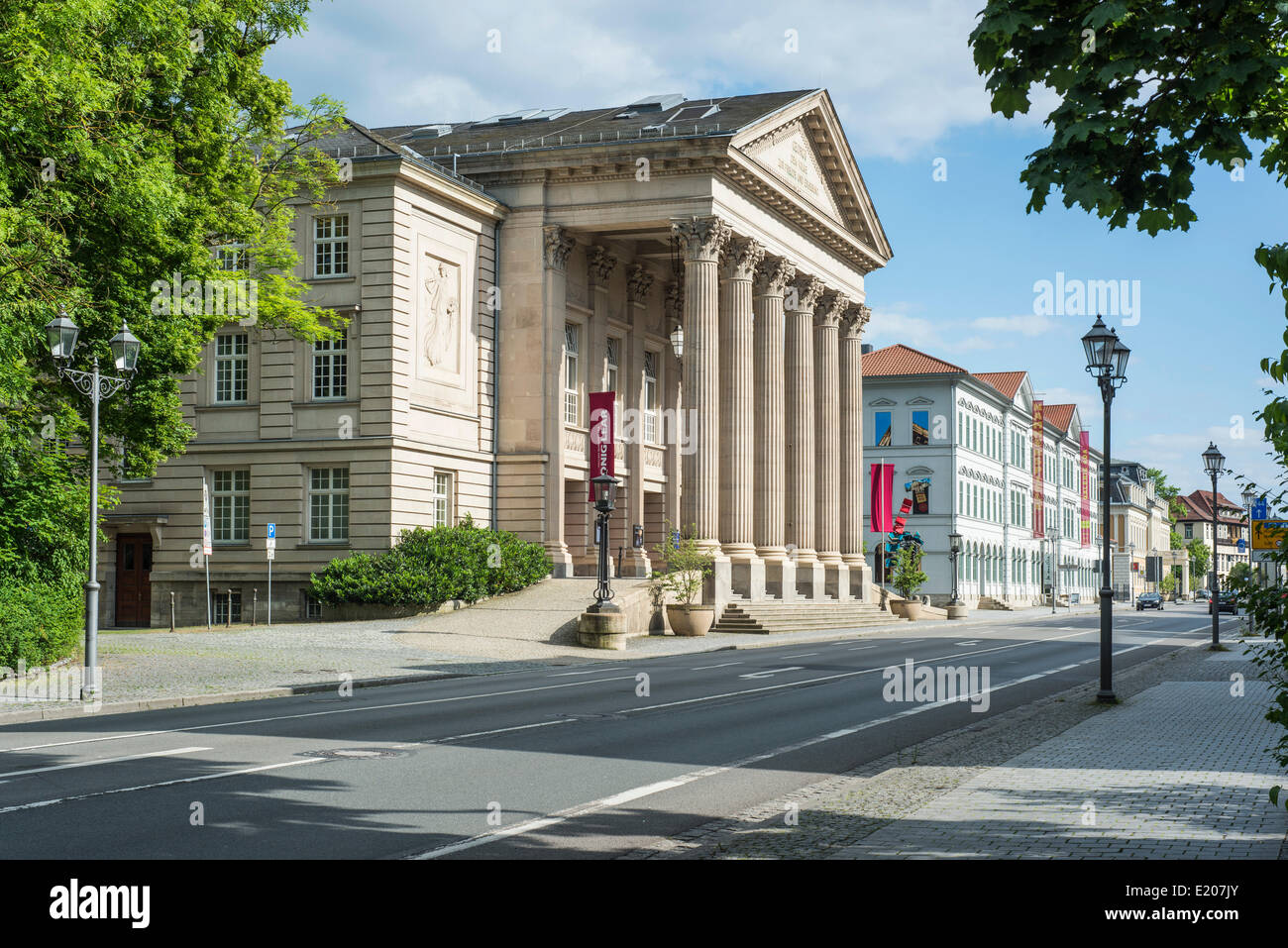 Das Meininger Theater, Neoclassicism, 1909, Meiningen, Thuringia, Germany - Stock Image