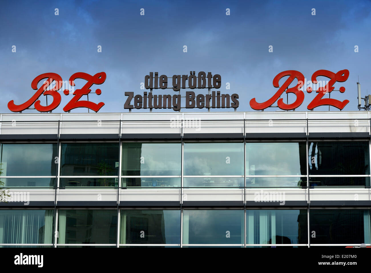 Façade advertising of the Berlin tabloid newspaper B.Z., Wittenbergplatz square, Berlin, Germany Stock Photo