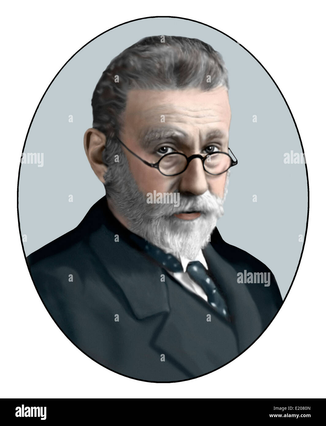 Paul Ehrlich; 1854 1915; German Bacteriologist; Illustration - Stock Image