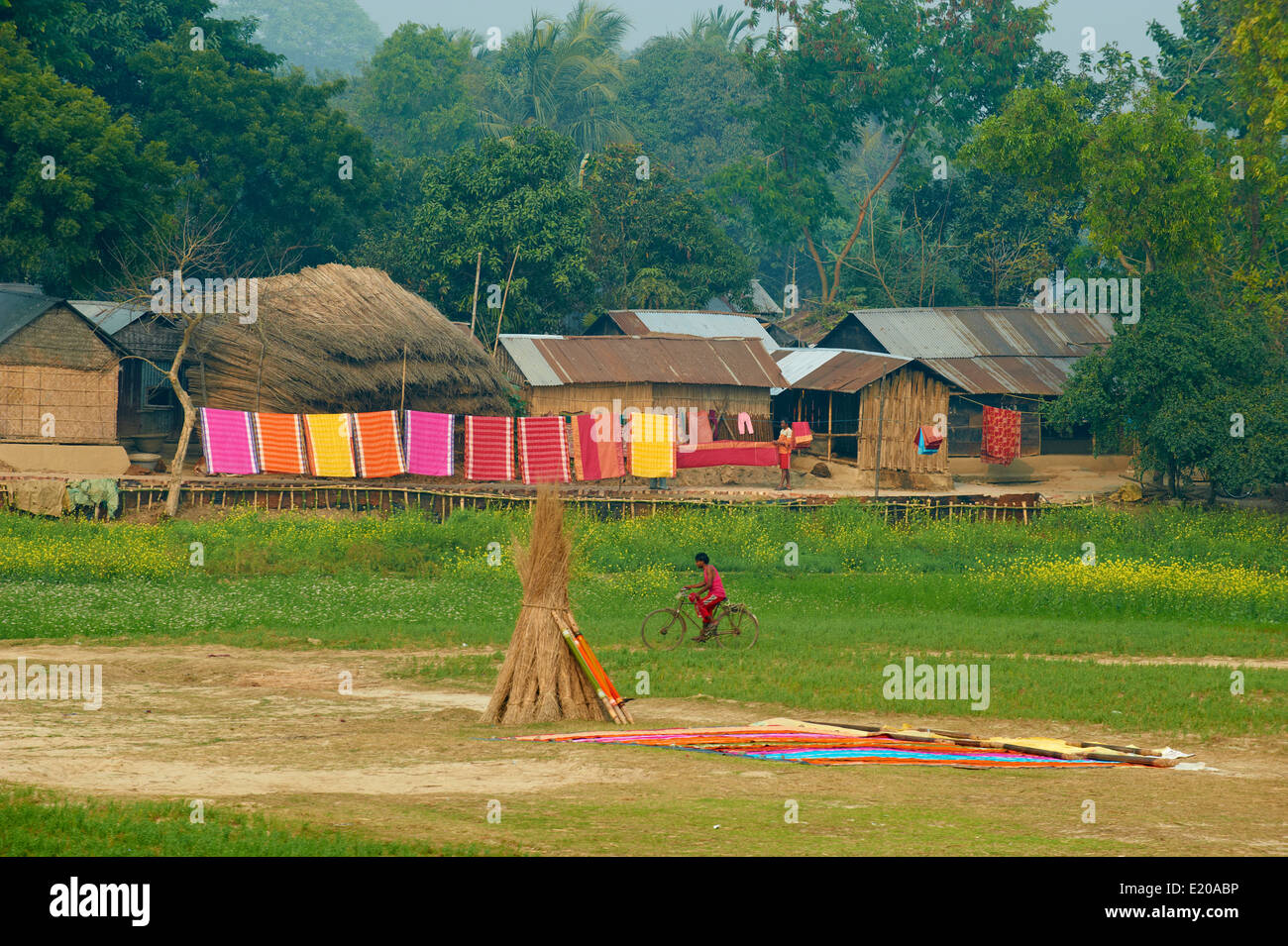 India, West Bengal, villages on the bank of the Hooghly