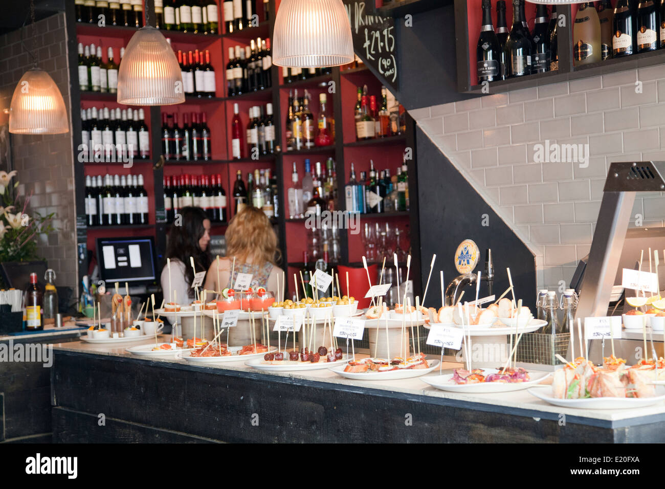 Pix Cafe Restaurant on Portobello Rd in London W11 - UK - Stock Image