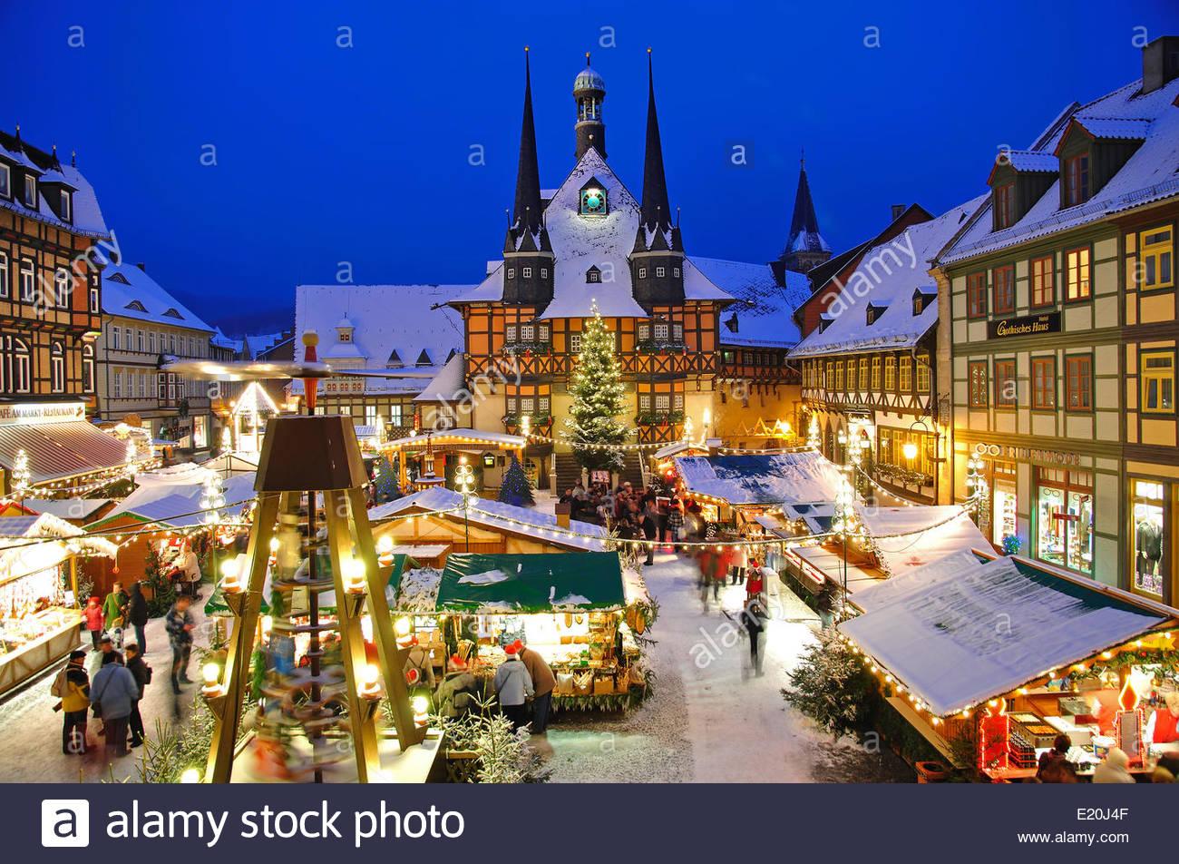 Wernigerode Weihnachtsmarkt.Christmas Market In Wernigerode Stock Photo 70085023 Alamy