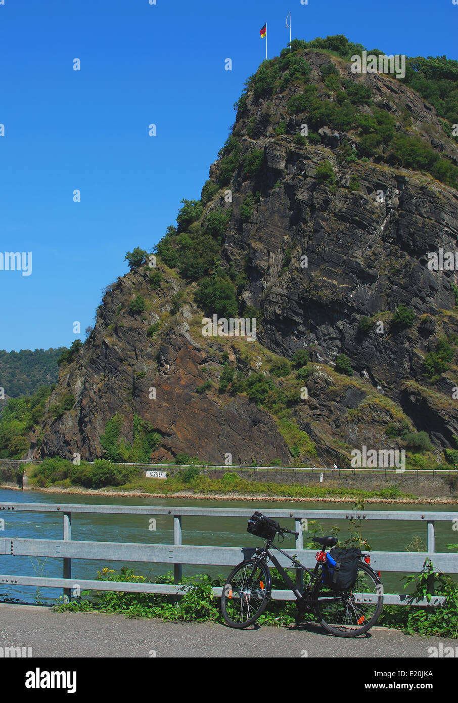 Loreley Rock on the Middle Rhine Valley Stock Photo