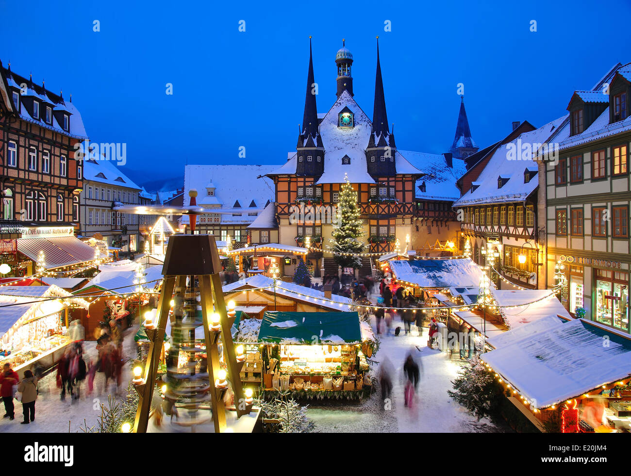 christmas market in wernigerode stock photo 70085460 alamy. Black Bedroom Furniture Sets. Home Design Ideas