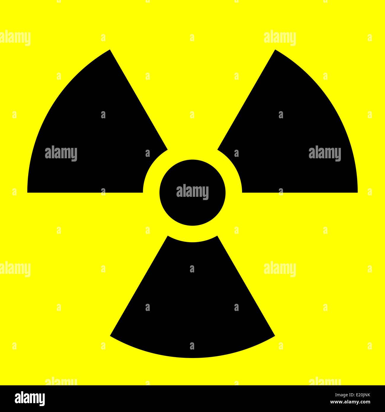 Radiation symbol - Stock Image
