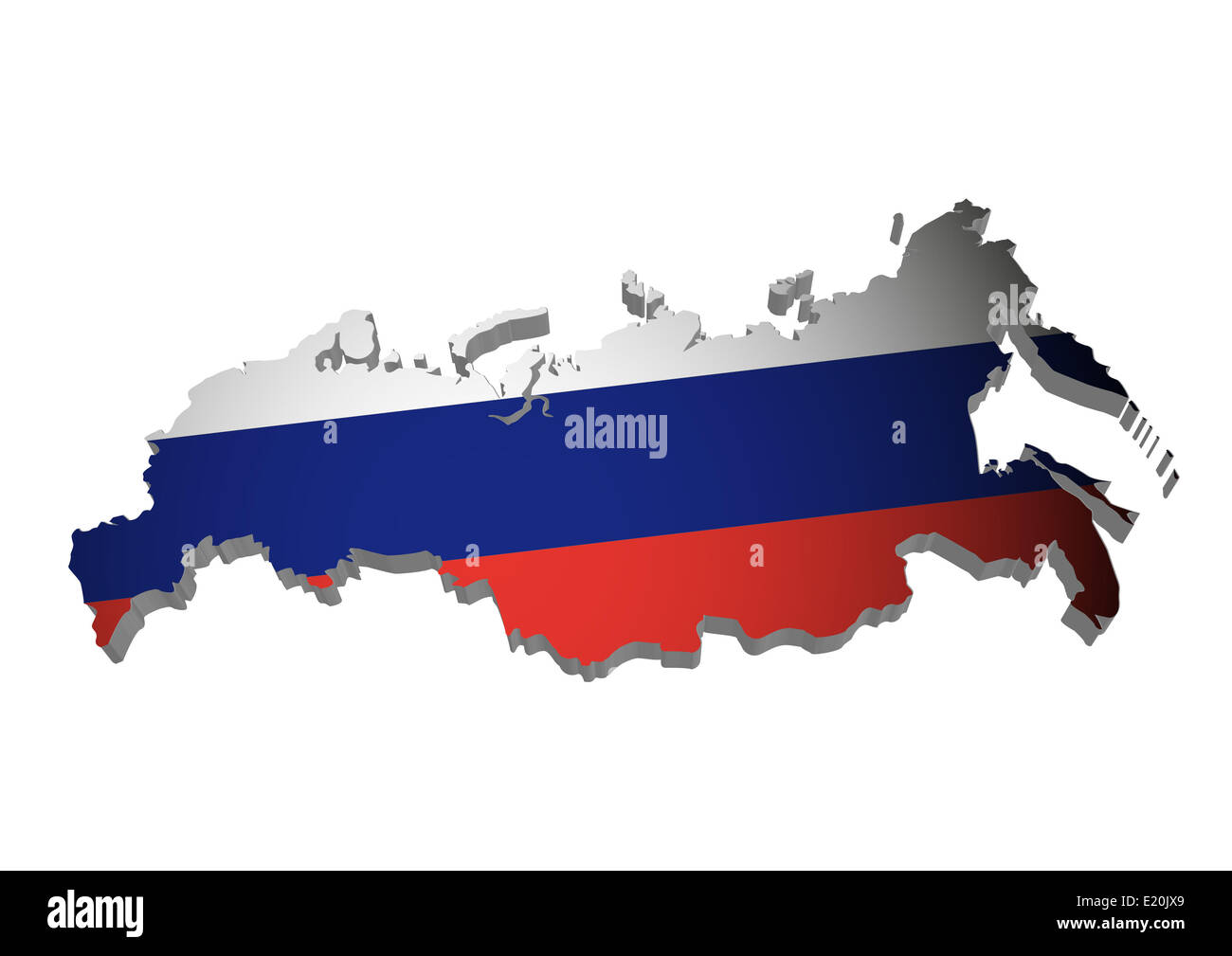 Russland_3D_farbig - Stock Image