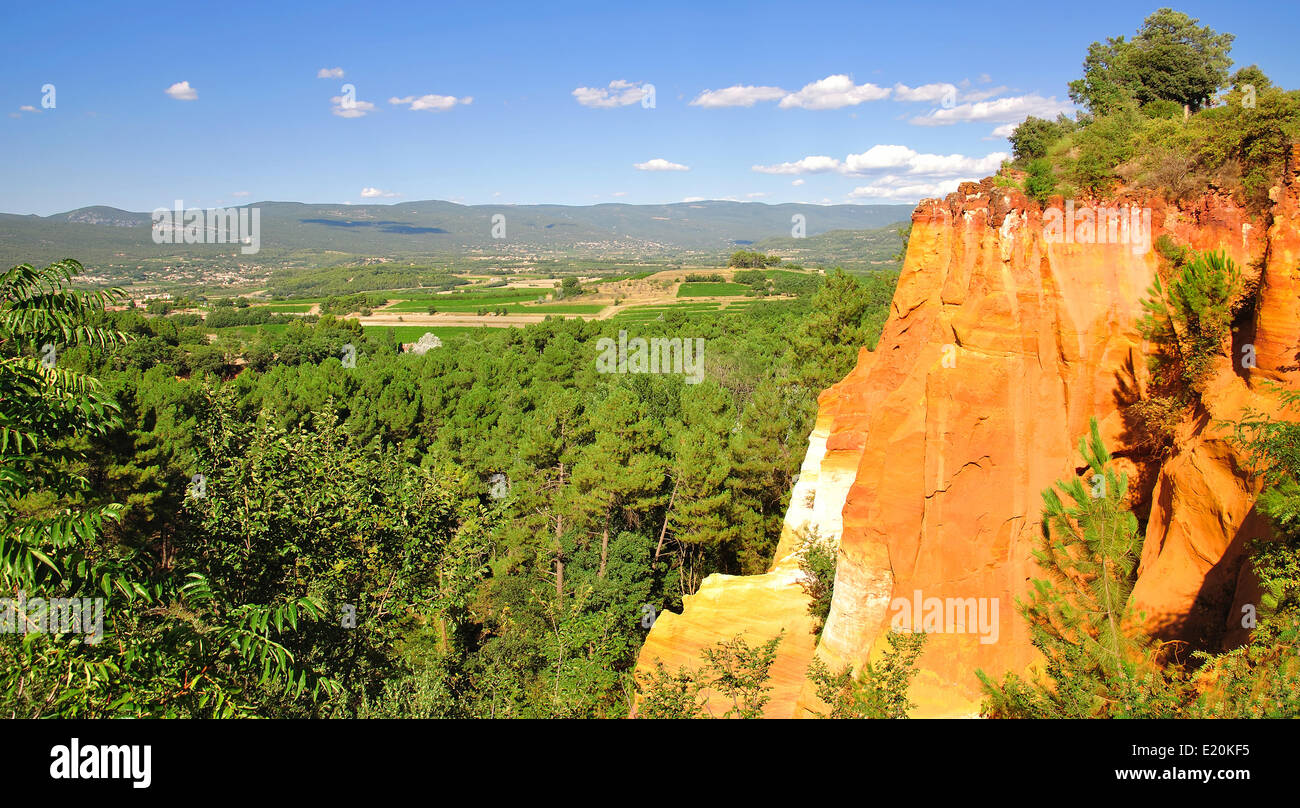 Ocher Quarries in Roussillon,Provence - Stock Image