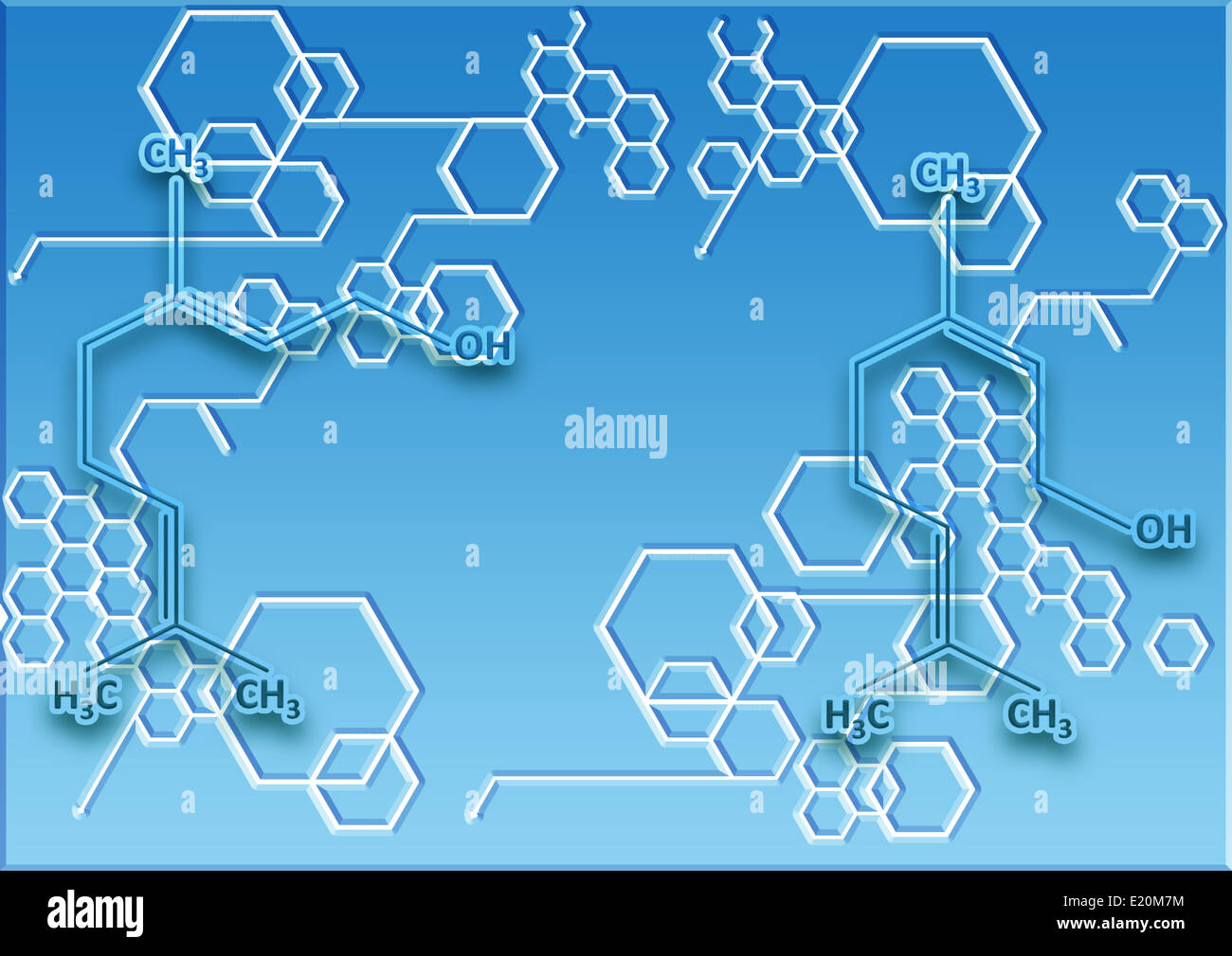 The chemical structural formula of spirit - Stock Image