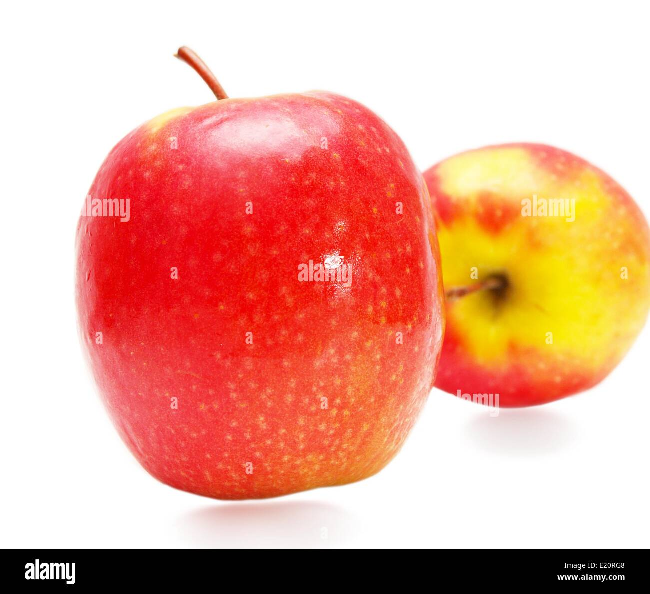 Red yellowish apples - Stock Image