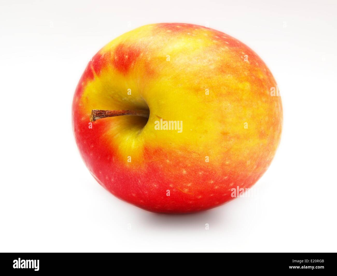 Red yellowish apple - Stock Image
