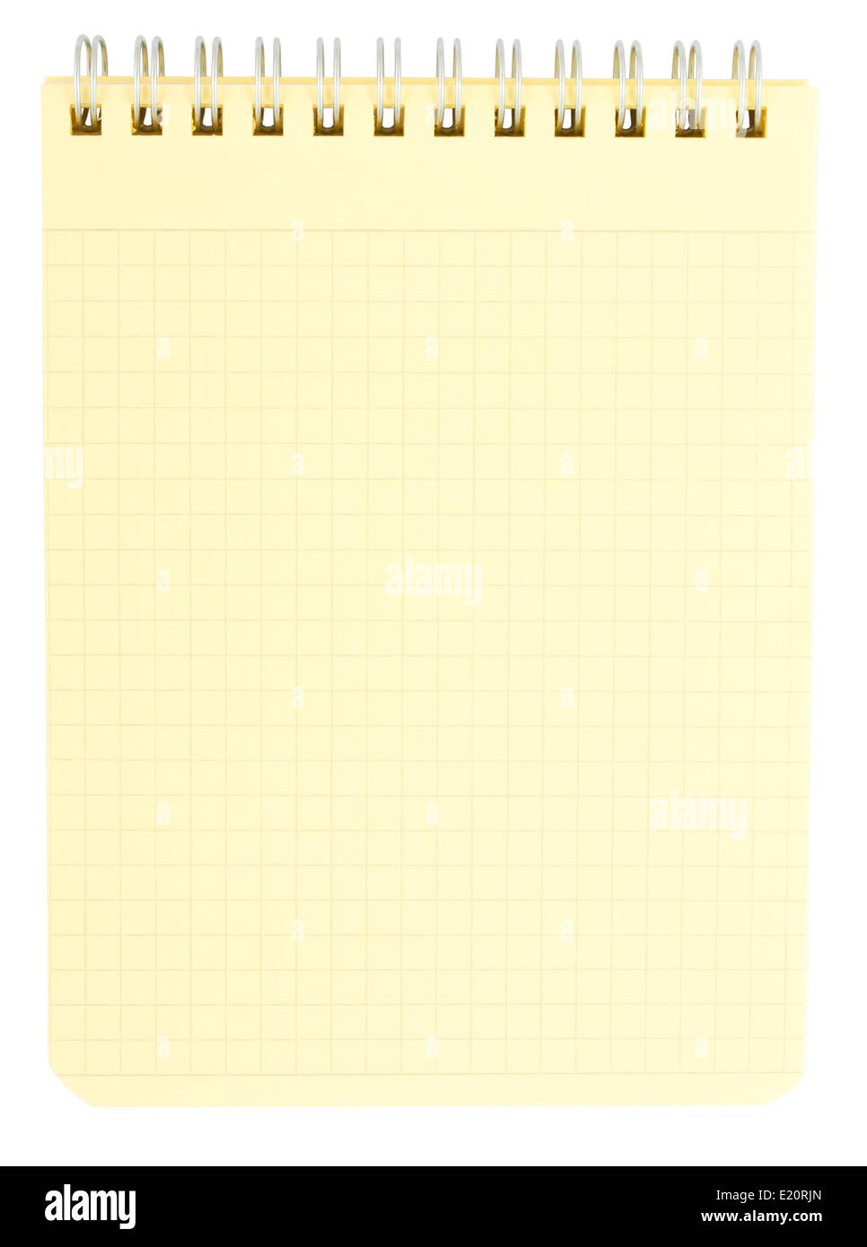 Yellow notepad - Stock Image