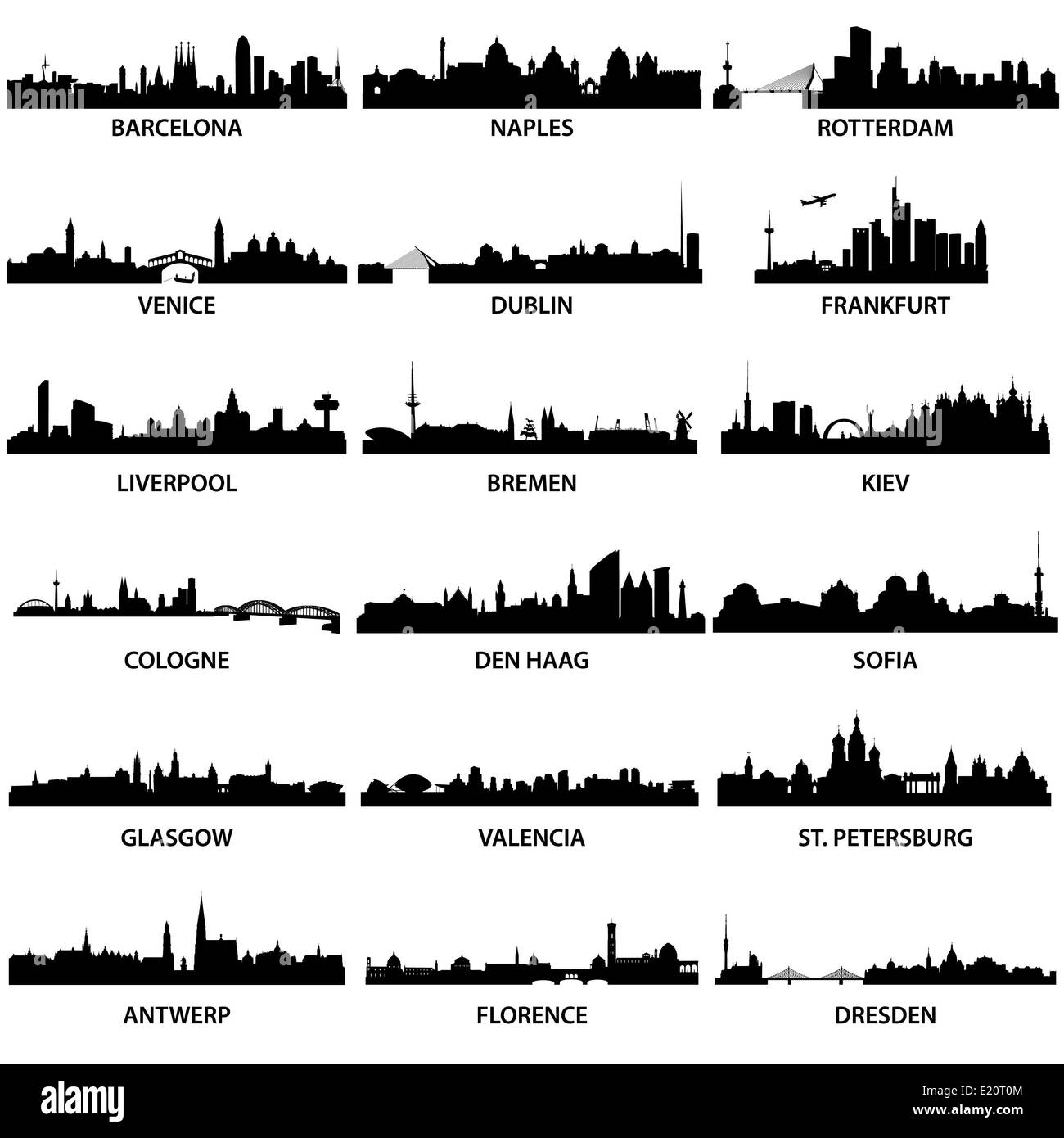 European City Skylines - Stock Image