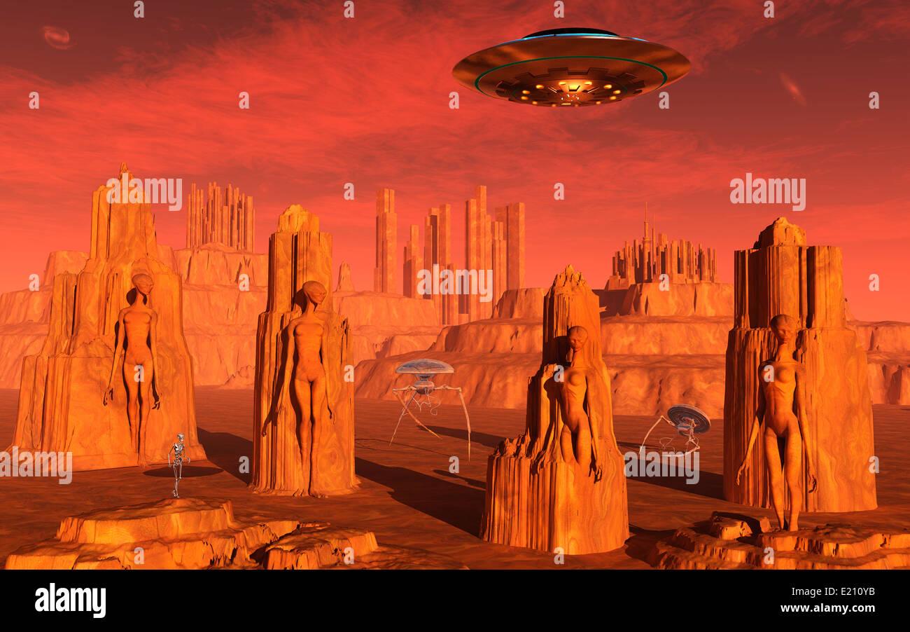 Last Days On Mars.2. - Stock Image