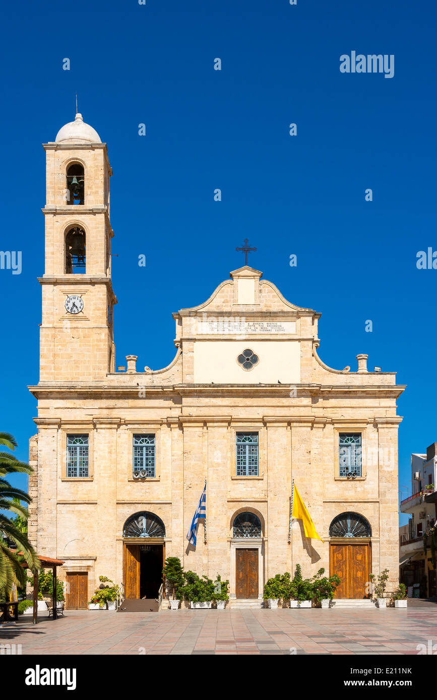Orthodox Cathedral in Chania. Crete, Greece Stock Photo
