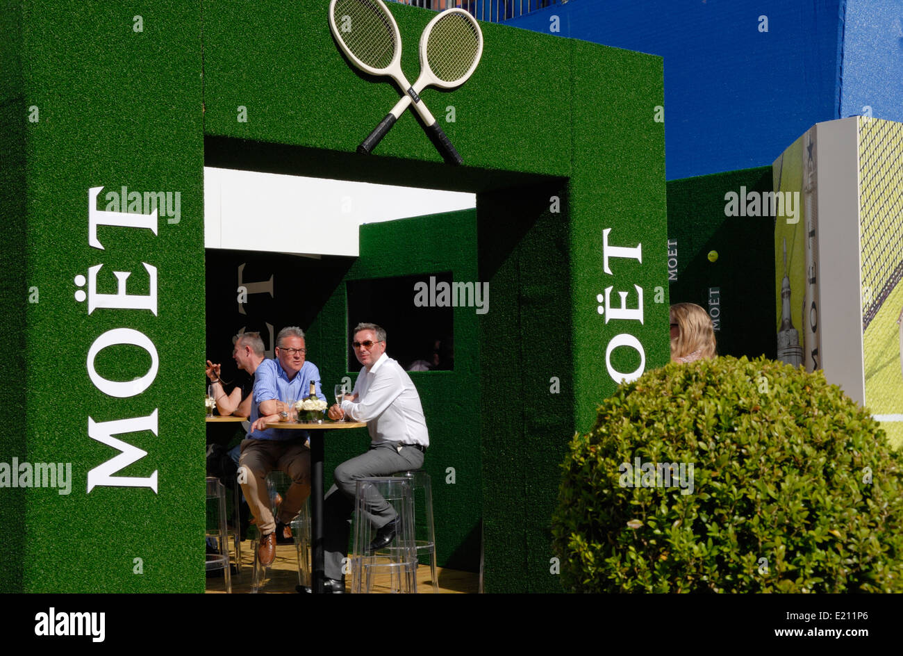 Aegon Tennis Championships, Queens Club, London, June10th 2014. Hospitality area - Stock Image