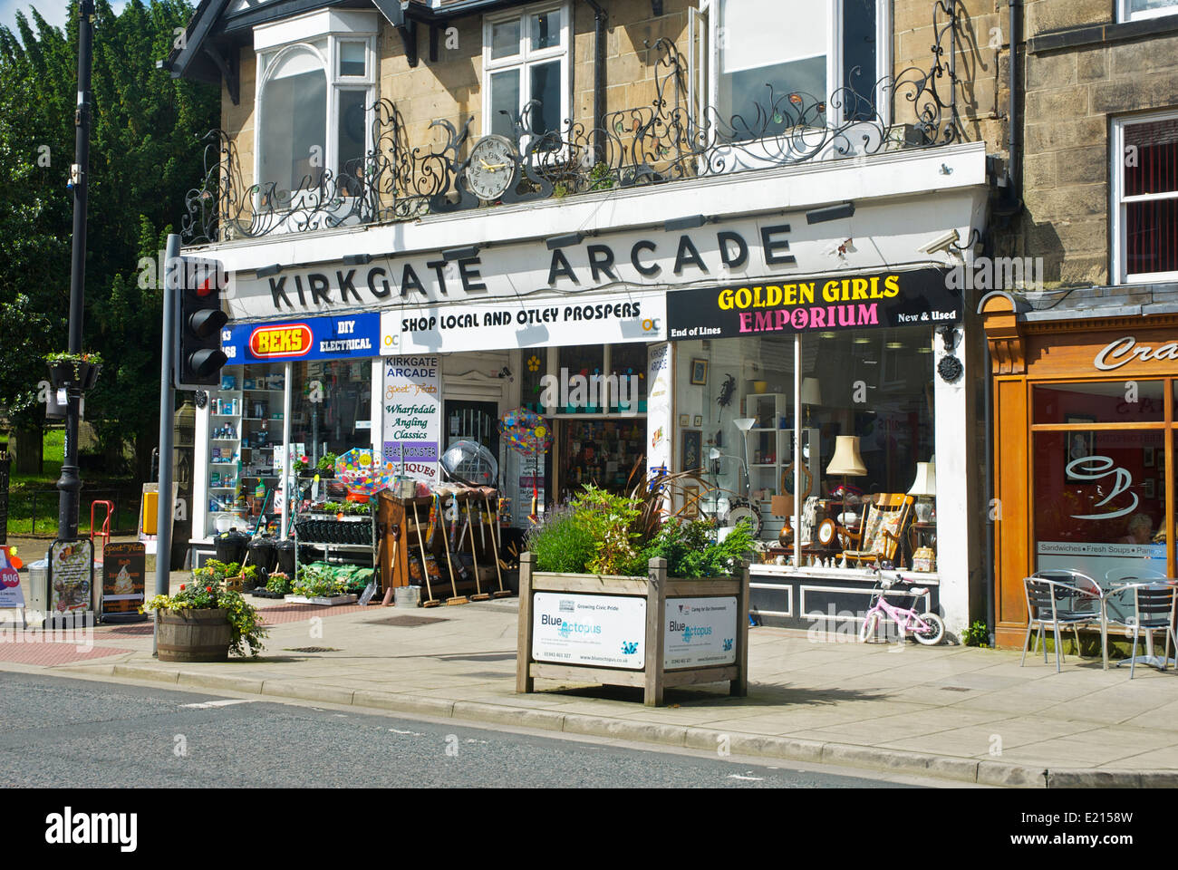 Kirkgate Arcade in Otley, West Yorkshire England UK - Stock Image