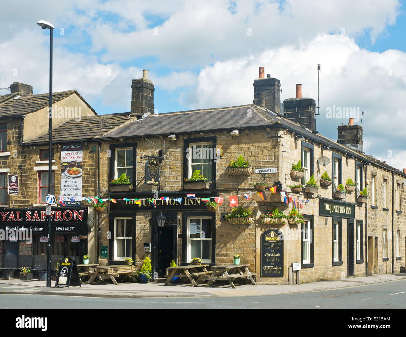 The Junction pub in Otley, West Yorkshire, England UK - Stock Image