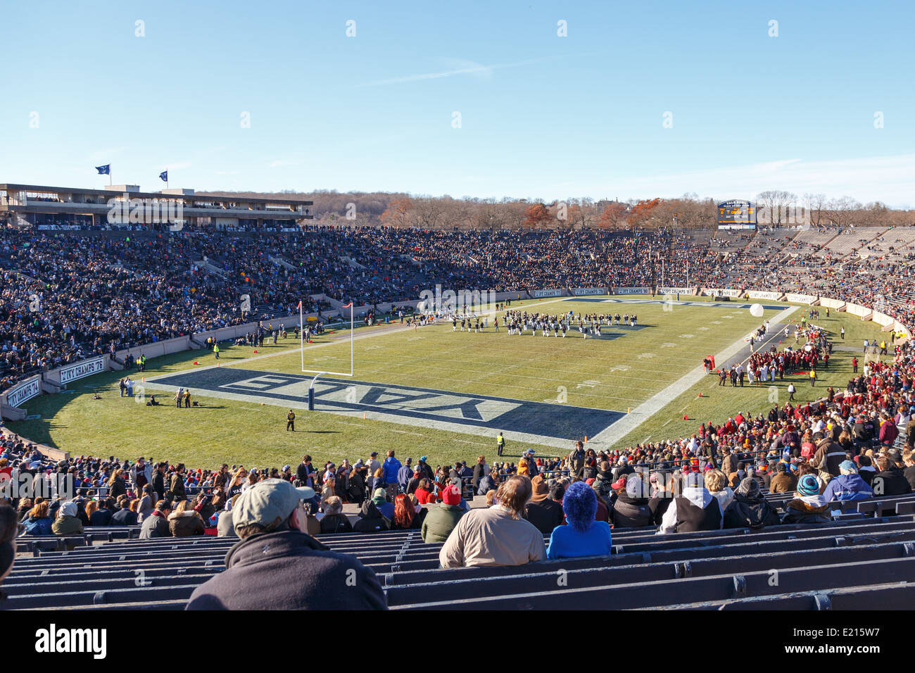 Harvard-Yale football game 2013 from inside the Yale Bowl at New Haven, CT, USA on November 23, 2013. - Stock Image