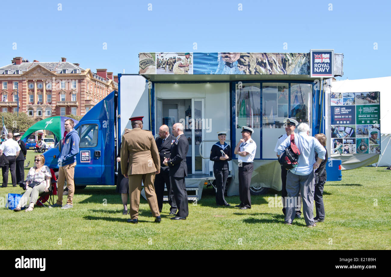 Royal navy recruitment at Southsea Portsmouth - Stock Image